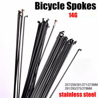 "Custom Length Spokes,16 pcs 275-308mm Sapim Silver /""Race/"" w//Nipples,14G,J-bend"