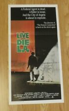 TO LIVE AND DIE IN L A ORIGINAL 1985 CINEMA DAYBILL FILM POSTER Willem Dafoe