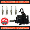 4x NGK Spark Plugs & 1x Ignition Coil Pack for Hyundai i30 Kia Cerato Sportage
