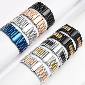Apple Watch Strap Stainless Steel Solid Steel Strip Metal Wristwatch Straps