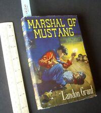 Unused 1950s/60s Western Cowboy Hardback + Wrapper. Marshall of Mustang (G20)