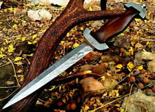 GERMAN SS DAGGER DAMASCUS STEEL BLADE KNIFE CUSTOM HANDMADE ROSE WOOD HANDLE
