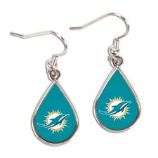 Miami Dolphins Wincraft NFL Logo Tear Drop Earrings Carded FREE SHIP!