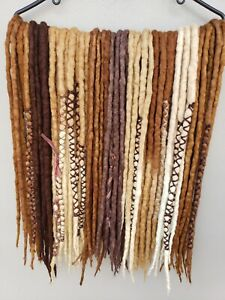 Double Ended Wool Dreadlock set of 50 Hair Extensions