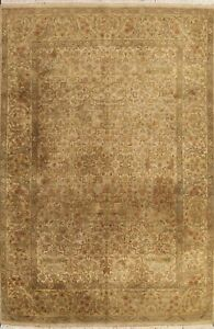 Agra Floral Oriental All-Over Area Rug Hand-knotted Wool Traditional Carpet 8x11