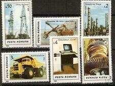 ROMANIA 1986 INDUSTRY UTILAJE I SC # 3417-3422 MNH