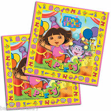 16 Dora the Explorer PINK Una Fiesta A Party 33cm Paper Luncheon Napkins