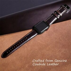 38/40/42mm Vintage Retro Leather Watch Band Strap For Apple Iwatch Series 6 5 SE