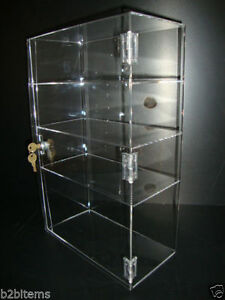 "305Displays Acrylic Showcase Display Case 12"" x 6"" x 19"" Locking Security"