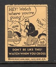 USA Road Safety Information poster stamp