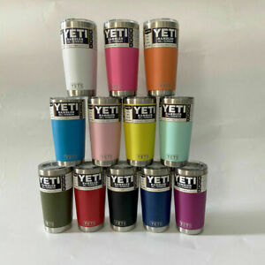 New YETI Rambler 20 Oz Tumbler Cup With Magnetic Slider Lid Multiple Colours