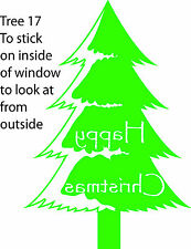 Christmas Tree Retail Shop Window Display Vinyl Sticker Wall Sticker V11 & V17