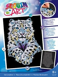 Sequin Art 1404 Snow Leopard Craft Set from the Blue range
