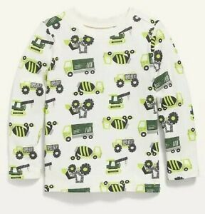 Old Navy Toddler Boy ~ Truck ~ Long Sleeve Tee T-Shirt ~ Size 12-18M - 5T