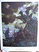 1976 Lord of the Rings-Battle Before Gate-Steve Hickman Print/Poster(D9189-MH)
