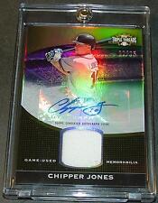 2011 TRIPLE THREADS CHIPPER JONES AUTO JERSEY  #24/25 SHARP