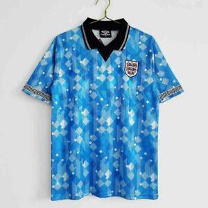 England 1990 Third Football Shirt in Blue - replica - Italia 90