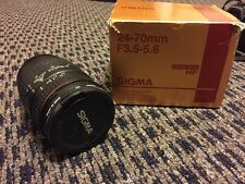 SIGMA 24-70MM F3.5-5.6 INTERCHANGEABLE LENS FILTER SIZE 62