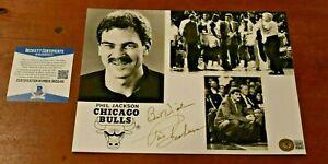 PHIL JACKSON Signed CHICAGO BULLS Promotional Photo-MICHAEL JORDAN-Beckett COA