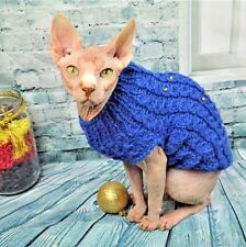 Warm winter sweater, Sphynx Cat Clothes, cat sweater, handmade knitted sweater