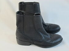 Spring Black Pull-on Ankle Boots Women's Size 6 M US Near Mint Condition