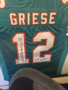 Bob Greise Autgrahed Jersey W/ Special Inscriptions! 1972 Perfect Season!