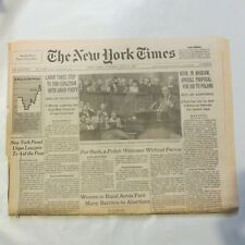 The New York Times July 11 1989 Bush with Lech Walesa Solidarity 20 pages 9A