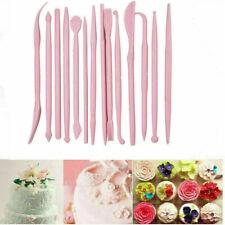 14X CAKE CUPCAKE DECORATING EQUIPMENT TOOLS MODELLING SET SUGARCRAFT CRAFT ICING
