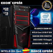 Ordenador Gaming PC Intel Core i5 6400 1TB 8GB DDR4 ASUS Rx460 4GB Ddr5 Juegos
