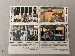 Marshall Islands Sg 359/62 U/M Block 4 Cat £4