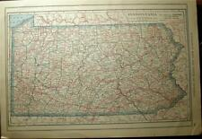 New Listing1921 Pennsylvania Maryland State County Auto Road Map Automobile Laws History