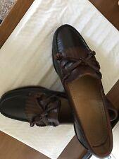 Allen Edmonds Kiltie Tassel Loafer Black /Brown 7.5 D-EUC