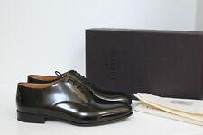 New sz 9.5 US / 43.5 EU VALENTINO Derby Black Leather Lace up Oxford Men's Shoes