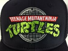 Teenage Mutant Ninja Turtles 80's 90's Logo Black Mesh Hat 1 Size Fits Most NWTS