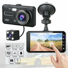 """4"""" Dual Lens Touch Camera 1080p Car DVR Dash Cam Video Recorder Night G-Sensor"""