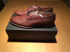 Men's Brown Formal Leather Shoes Banana Republic UK Size 8.5 Brand New Boxed