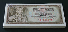 Yugoslavia - BUNDLE LOT 100 Banknotes Notes - 10 DINARA 1968 - P 82 P82 (UNC)