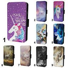Beautiful Unicorn Designs Flip Phone Case Cover Wallet - Fits Iphone 6 7 8 X 11