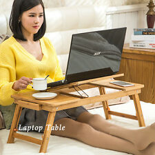 Adjustable Laptop Computer Desk Bed Sofa Tray Stand Foldable Table Double Vents