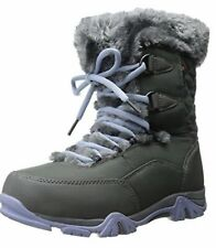 New Hi-Tec Youth Girls St. Moritz Lite 200 Gray Waterproof Snow Boots Size US J7