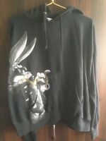 Looney Tunes Hoodie Bugs With B Coin Print Vtg Black Size XL Supreme