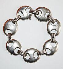 bracelet HERMES maille grains de café en argent massif avec écrin vintage