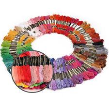200 Docken Sticktwist Stickgarn 8m 6-fädig Multicolor BUNT DIY Mehrfarbig Set