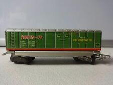 Nomura Japan Japanese Tin Litho HO Scale Box Cars Santa-Fe 1658 Refrigerated
