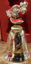 LENOX  2013 SILVER PLATED 37TH ANNUAL MUSICAL JOLLY OLD ST. NICHOLAS METAL BELL