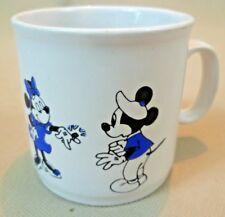 Vintage Mug - Ceramic Disney Mickey & Minnie Mouse & Goofy Small Coffee Can