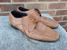 hush puppies brown lace up leather shoes size 10