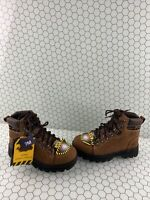Ad Tec HIKERS Brown Leather Lace Up Steel Toe Work Boots Women's Size 7 M