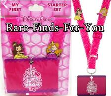 Disney Parks Princess Aurora and Belle 2-Pin and Lanyard Booster Pack Set (NEW)