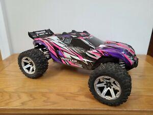 Traxxas Rustler 4X4 VXL. Pink Edition. 1/10 scale Brushless R/C stadium truck
